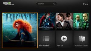 amazon prime video interface
