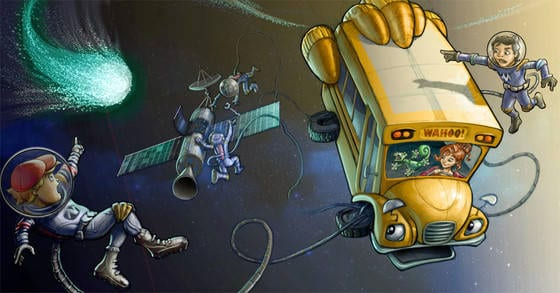 Magic School Bus Netflix Art