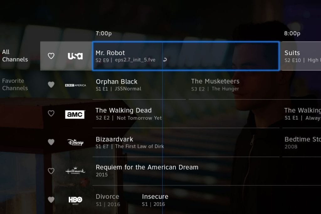 DIRECTV NOW guide