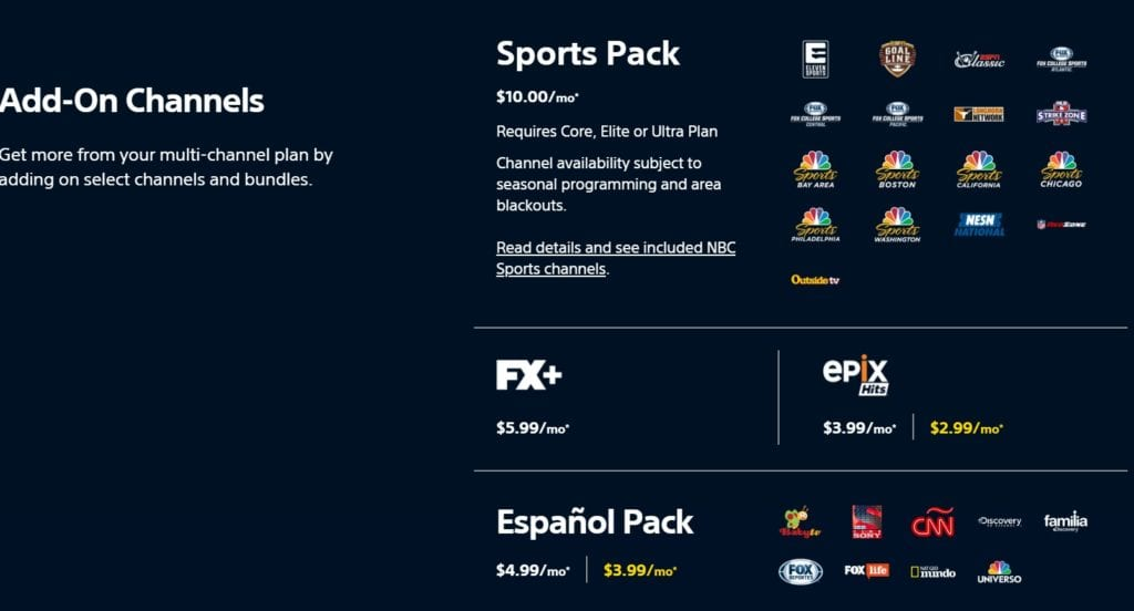 PS Vue add on packages