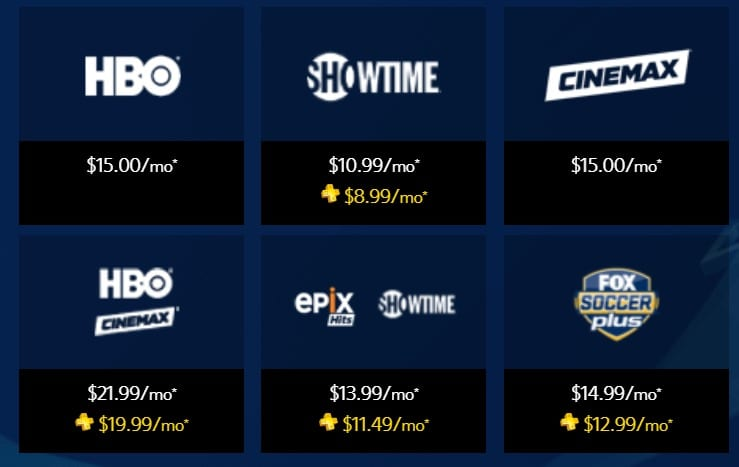 PS Vue standalone networks