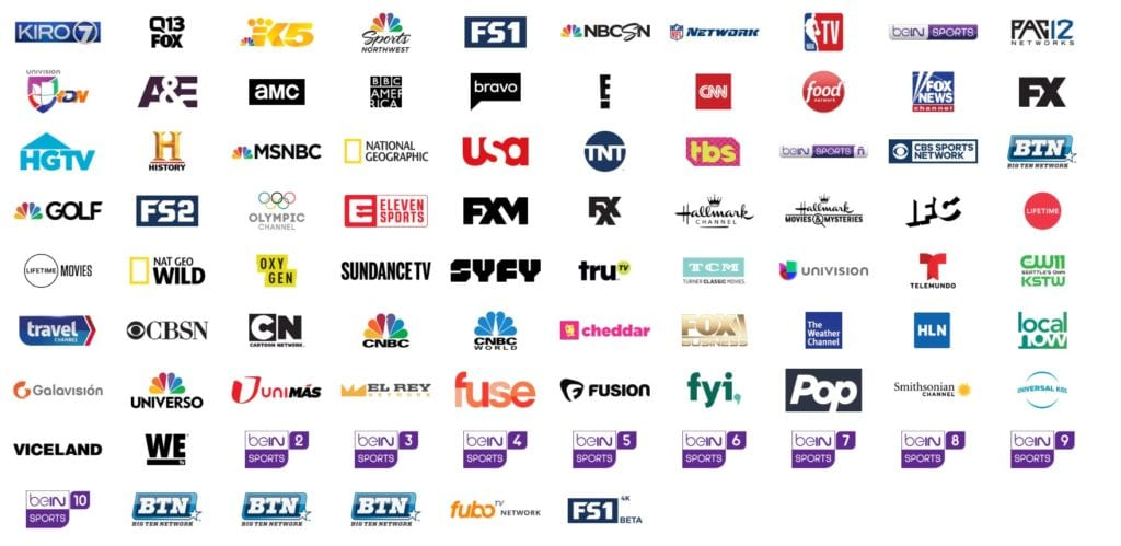 channels in fuboTV base package