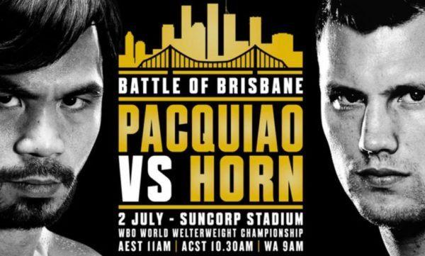 Watch Pacquiao vs Horn Online