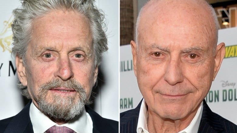 Michael Douglas, left, and Alan Arkin.
