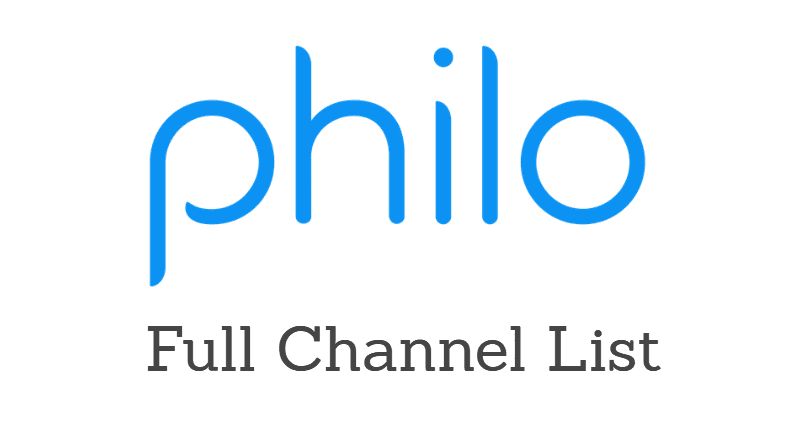 Philo channels list