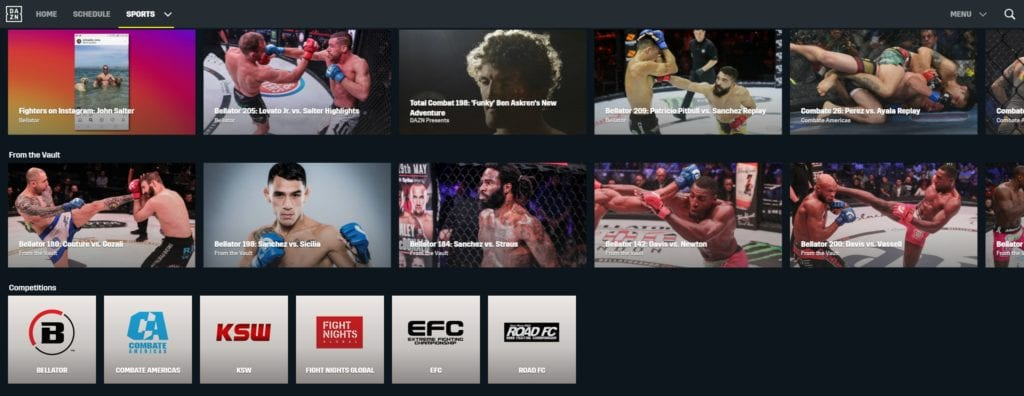 DAZN features