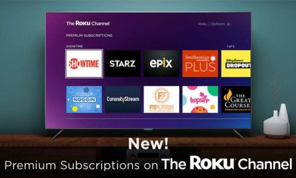 premium channels on Roku