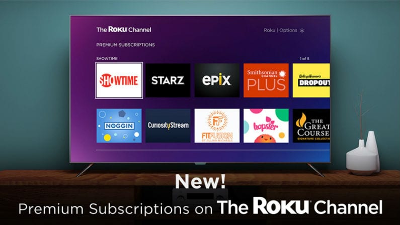 premium channels on Roku