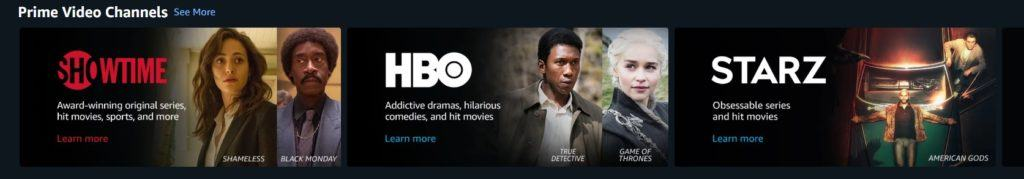 Prime Video channels