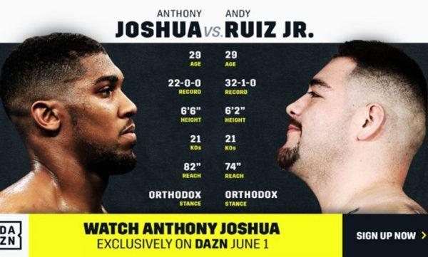 watch Joshua vs Ruiz Jr online