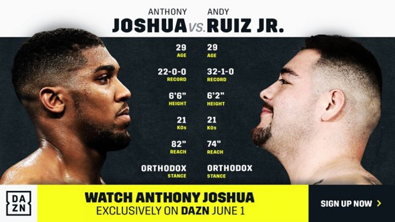 watch Joshua vs Ruiz Jr online