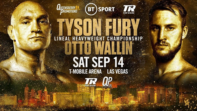 Watch Fury vs Wallin online