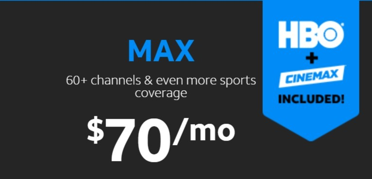 AT&T TV NOW Max package