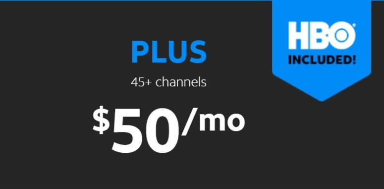 AT&T TV NOW Plus package