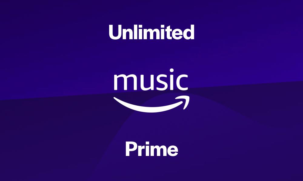 Amazon Music Unlimited vs. Prime Music  soda