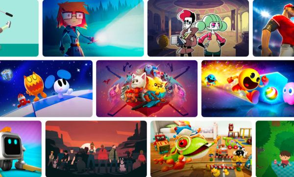 Apple Arcade games artwork collage