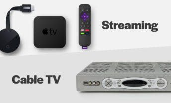 streaming devices and an old cable box