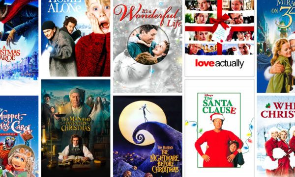 Holiday movie cover art collage