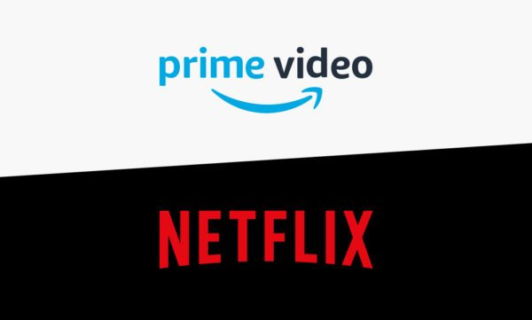Amazon Prime Video and Netflix's logos