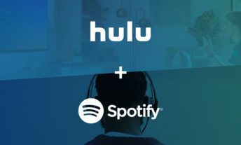 Hulu and Spotify's logos