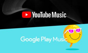YouTube Music and Google Play Music's logos