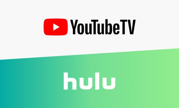 YouTube TV and Hulu's logos