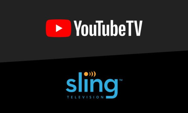 YouTube TV and Sling TV's logos