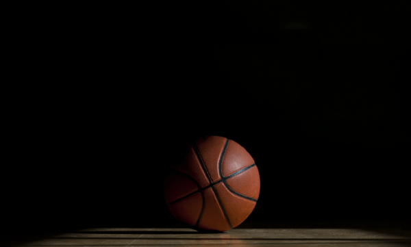 basketball with black background