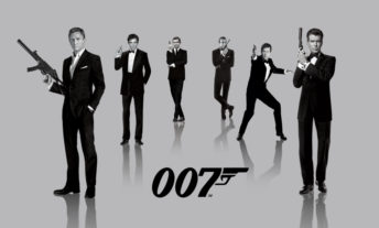James Bond actors over time